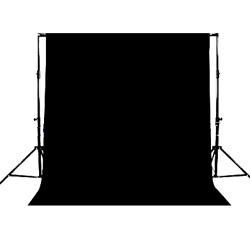 Fondale fotografico in stoffa pesante in panno nero 4m x 4m modulare (ottimo anche come insonorizzante) - Noleggio Attrezzature Fotografiche