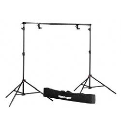 Kit componibile e portatile porta Fondale fotografico completo di stativi - Noleggio Attrezzature Fotografiche