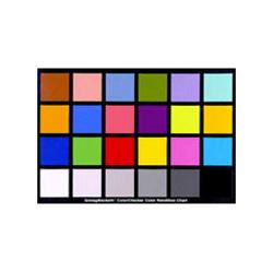 Tabella colore in cartone per taratura temperatura colore per riprese fotografiche e video Gretag Colorchecker - Noleggio Attrezzature Fotografiche