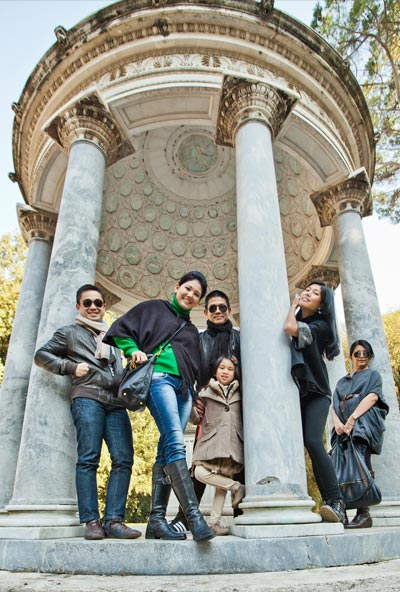 Fotografia per Famiglie - Ritratto a Roma presso Villa Borghese