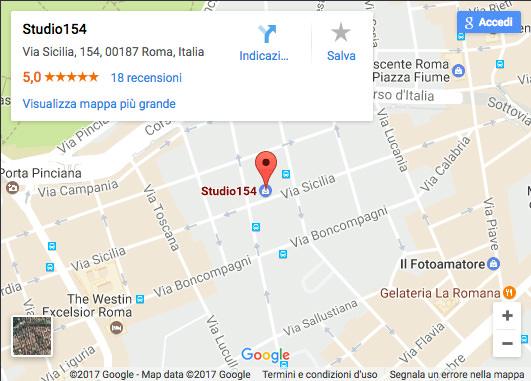 Mappa Stradale Studio154