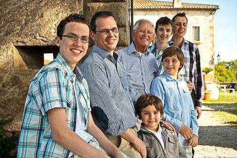 foto di famiglia in esterno