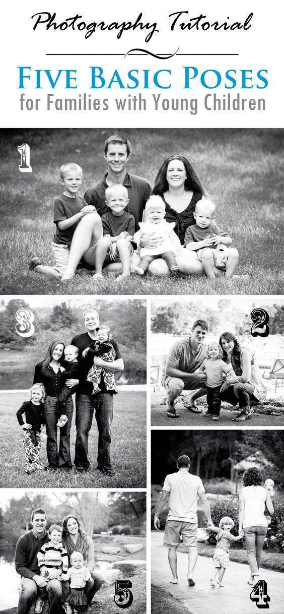posa per shooting fotografico famiglia