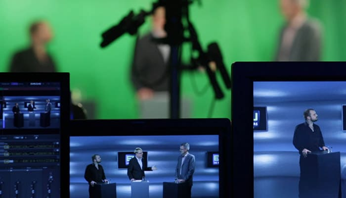 Previsioni del tempo su green screen in tv