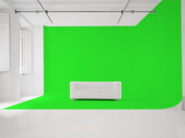Studio Fotografico Limbo: Veduta Frontale con Limbo su 2 lati
