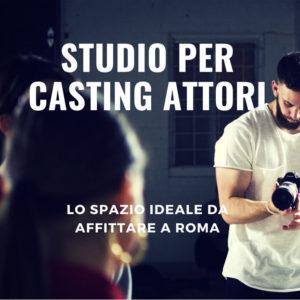 Studio per casting attori, attrici, modelle, modelli per pubblicità in affitto.
