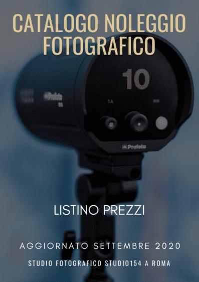 Il catalogo del noleggio fotografico