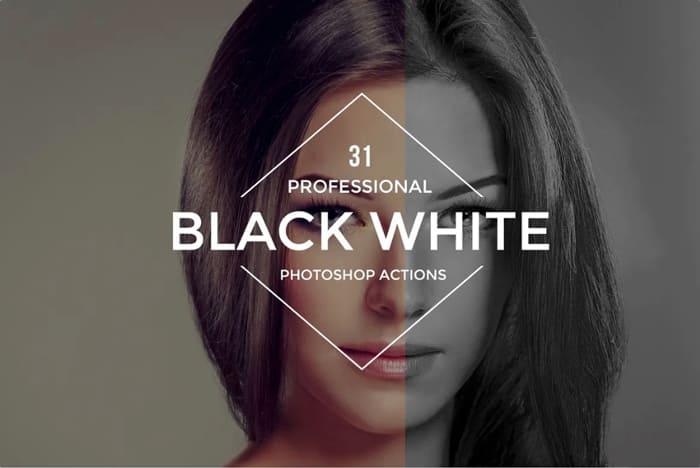 Azioni di Photoshop per Fotografia in Bianco e Nero