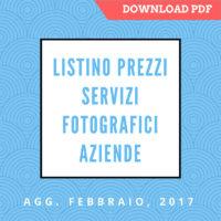 Listino Prezzi Servizi Fotografici DOWNLOAD