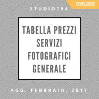 Listino Prezzi Servizi Fotografici GENERALE ONLINE