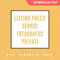 Listino Prezzi Servizi Fotografici Privati